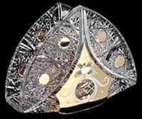 Хрусталь с золотом Салфетница Acrystal 14 см