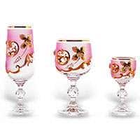 Лепка розовая Набор фужеров Bohemia 18 предметов