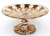 Хрусталь с золотом Тортница Jahami Bohemia 35,5 см