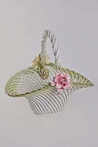 Ваза для конфет Цветы c ручкой 34x31x32 см