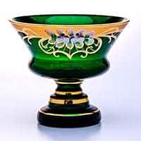 Варенница ваза для варенья Лепка зеленая 15 см