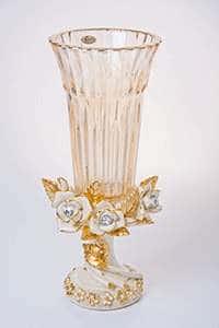 Ваза для цветов Чевик Белые розы