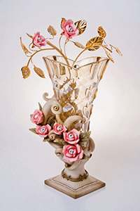 Ваза для цветов Чевик Розовый букет