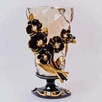 Ваза для цветов Чевик Черные цветы