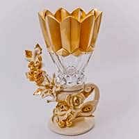 Ваза для цветов Чевик Золотой букет