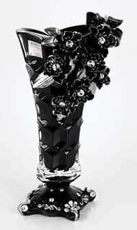 Ваза для цветов Чевик Цветы черная