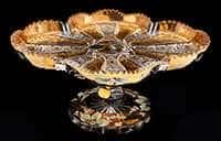Ваза для конфет Хрусталь с золотом 24 см