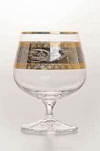 Набор бокалов для бренди 250 мл Лаура Платина с золотом