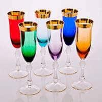 Набор фужеров для шампанского 200 мл Джесси Колорс
