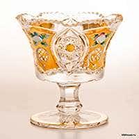 Ваза для варенья Хрусталь с золотом 12 см Acrystal