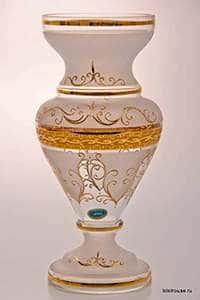 Ваза для цветов Версаче фон 30 см Potochka