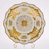 Ваза для фруктов Ютта 31 см Симфония Золотая Weimar