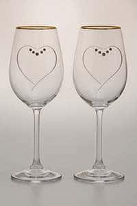 Набор бокалов для вина 350 мл 2 предмета Сердце