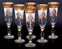 Набор фужеров для шампанского 200 мл Версаче фон