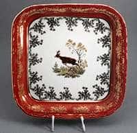 Охота красная Салатник квадратный Bavarian 24 см