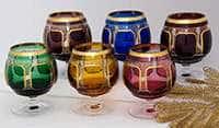 Набор бокалов для бренди 250 мл Арнштадт Антик цветной