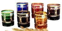 Набор бокалов для виски 250 мл Арнштадт Антик цветной