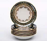 Лист зеленый Набор салатников Bavarian Porcelain 19 см