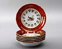 Охота красная Набор салатников Bavarian Porcelain 13 см