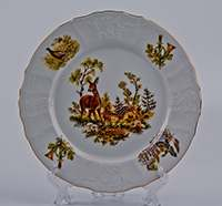 Бернадот Охота Набор тарелок 25 см из фарфора