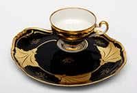 Кленовый лист синий Эгоист Набор чайный Weimar 210 мл на 1 персону 2 предмета