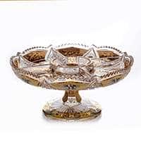 Менажница Хрусталь с золотом 30,5 см