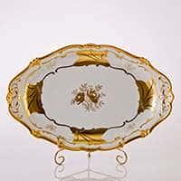 Блюдо овальное Кленовый лист белый 36 см Weimar