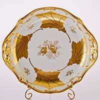Блюдо круглое Кленовый лист белый 28 см Weimar