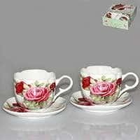 Набор чайный Patricia c цветочным принтом 220 мл