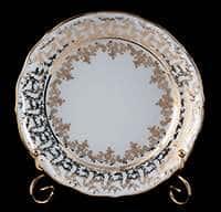 Лист белый Набор тарелок Bavarian Porcelain 19 см