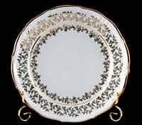 Лист белый Набор тарелок Bavarian Porcelain 24 см