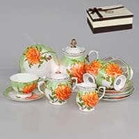 Цветок розы Чайный сервиз Patricia 15 предметов 220 мл