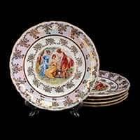 Мадонна Набор тарелок Bavarian Porcelain 24 см из фарфора