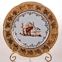 Мария Охота медовая Набор тарелок Bavarian Porcelain 21 см