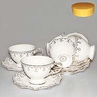 Волна Чайные чашки с блюдцами Patricia на 6 персoн 220 мл