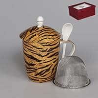 Кружка заварочная коричневая с металлическим фильтром 420 мл Сафари