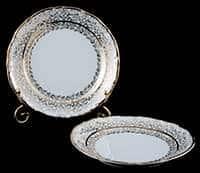 Лист белый Набор тарелок Carlsbad 19 см из фарфора