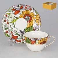 Настроение с крупными цветами Чайная пара Patricia 2 предмета 220 мл