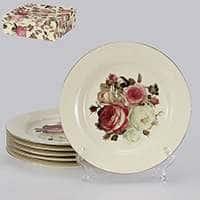 Яркая роза Набор десертных тарелок Patricia 6 предметов 19 см