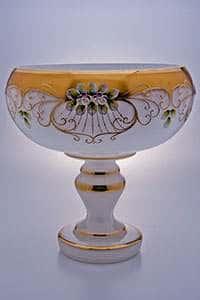 Фруктовница Лепка белая 30 см Potochka
