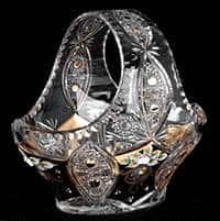 Хрусталь с золотом 96027 Корзина 25,5 см Acrystal