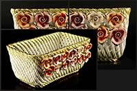Корзина Цветы 23x15x10 см Lanzarin Ceramiche