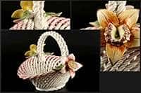 Корзина Цветы овальная 22x17x17 см