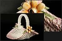 Корзина Цветы овальная 24x16x18 см