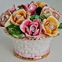 Цветы Корзина декоративная Lanzarin Ceramiche