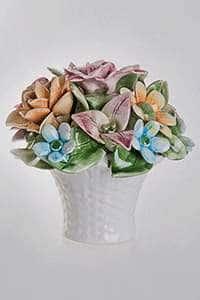 Корзина Цветы декоративная керамическая Lanzarin