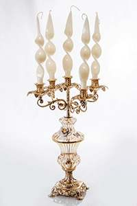 Подсвечник Франко из латуни  на 5 свечей