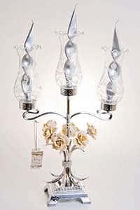 Подсвечник Франко на 3 свечи из латуни