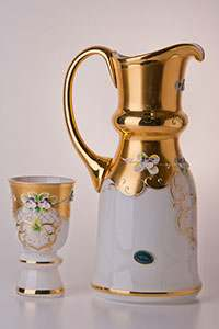 Королевский Лепка белая Набор для воды Potochka (кувшин и 6 бокалов)