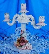Цветы Подсвечник Lanzarin Ceramiche на 3 свечи 36x15x34 см